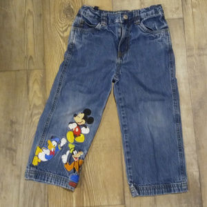 kids embroidered disney jeans